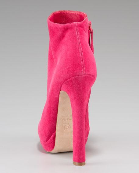 Suede Platform Ankle Boot