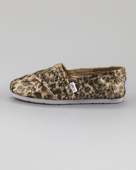 Sequin Leopard-Print Slip-On