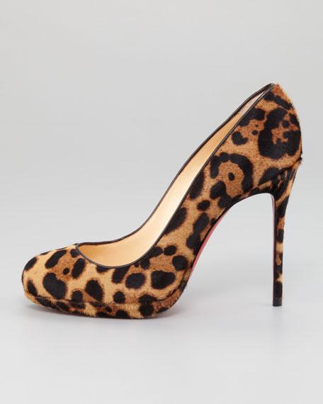 Filo Leopard-Print Hair-Calf Red Sole Pump