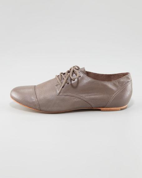 Avalon Leather Lace-Up Jazz Shoe, Gray
