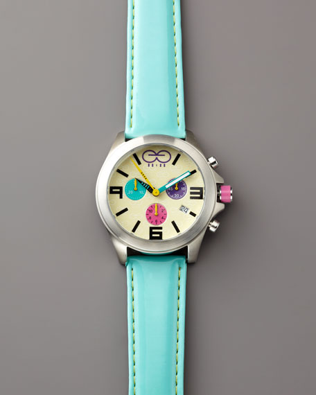 Multicolor Chronograph with Two Straps