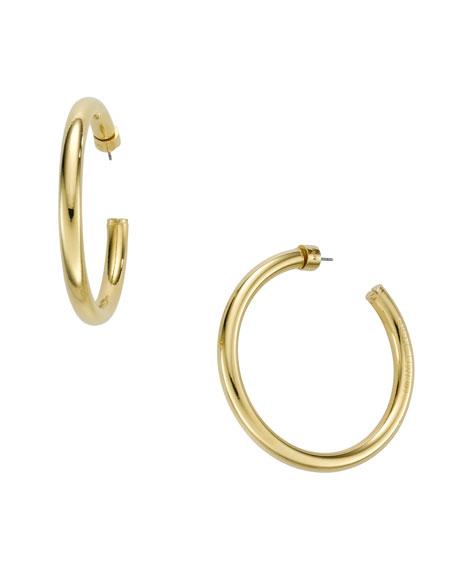 Hoop Earrings, Golden