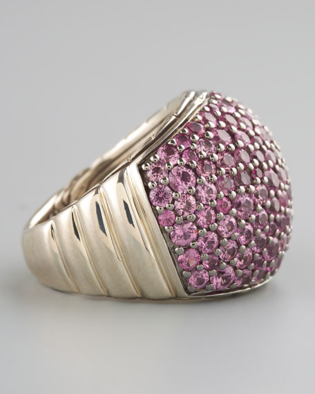 Bedeg Pink Sapphire Dome Ring
