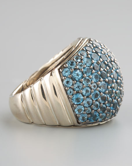 Bedeg Blue Topaz Dome Ring