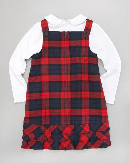 Plaid Dress & Tee Set, 12-24 Months