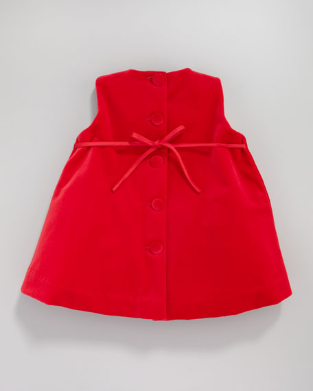 Velvet Pleat-Front Dress, 12-24 Months