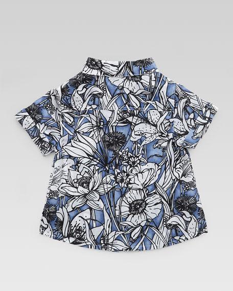 Floral Button-Down Shirt, 3-24 Months