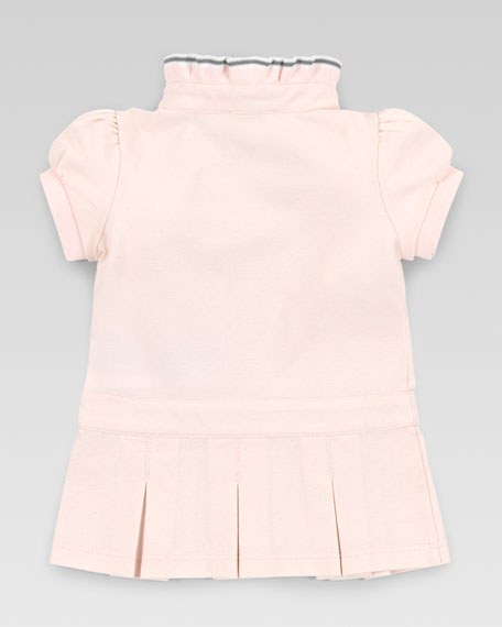 Crystal Gucci Logo Knit Dress, Powder Pink