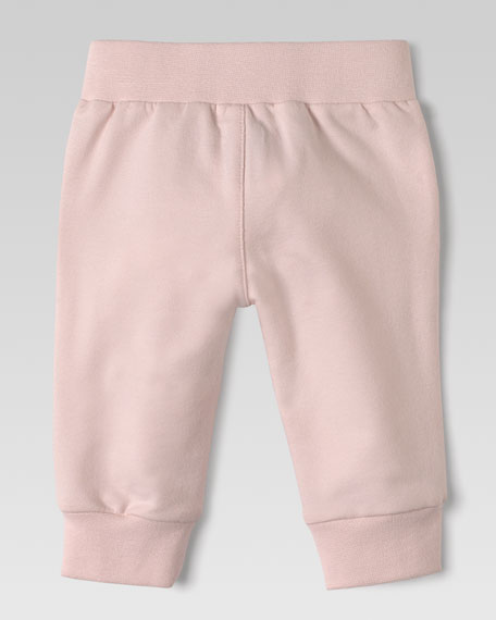 Jersey GG-Trim Jog Pants, Light Pink
