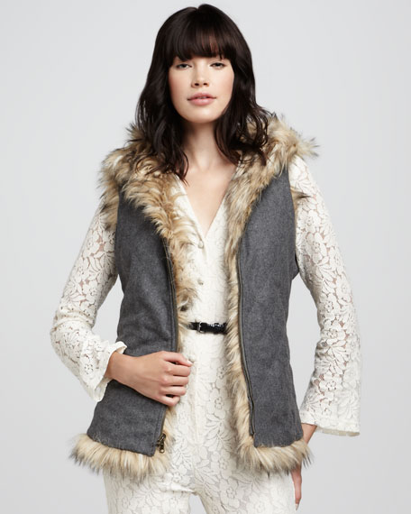 Reversible Faux-Fur Vest