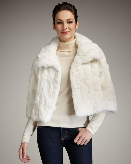 Cropped Rabbit Fur Jacket