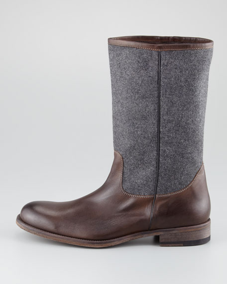 Wool-Shaft Boot