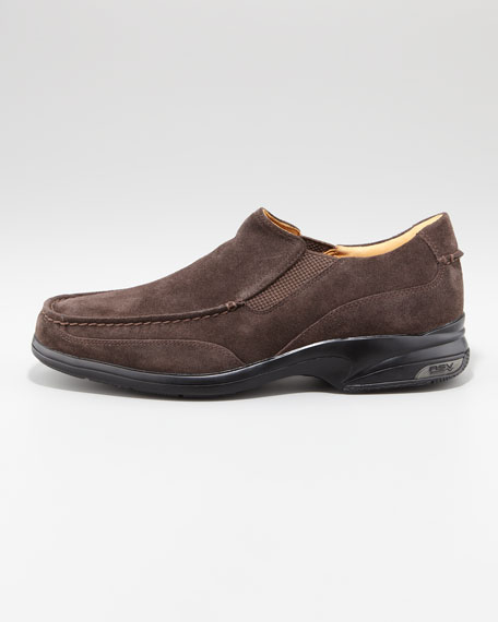 Gold Champ Suede Loafer, Chocolate