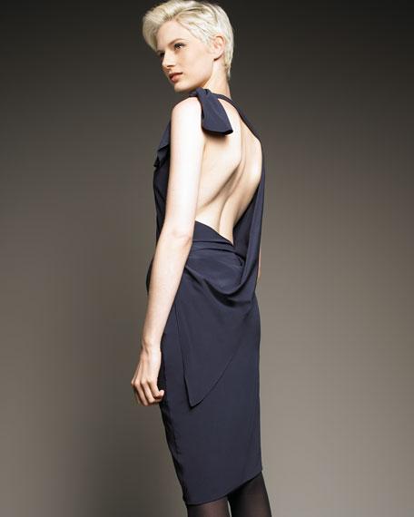 Asymmetric Open-Back Dress