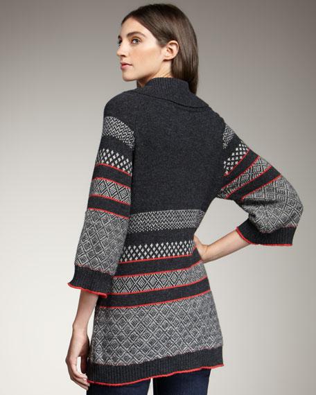Fair Isle Toggle Sweater