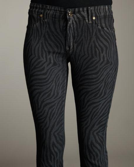 Caged Zebra Legging Jeans