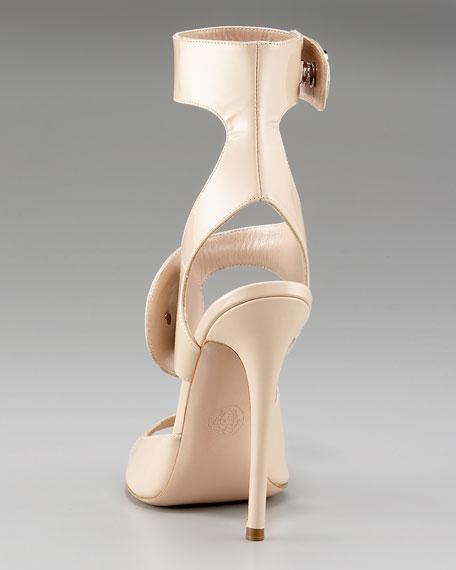 Button Calf Sandal