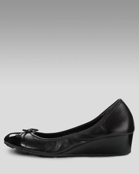 Air Tali Lace Low-Wedge Pump, Black