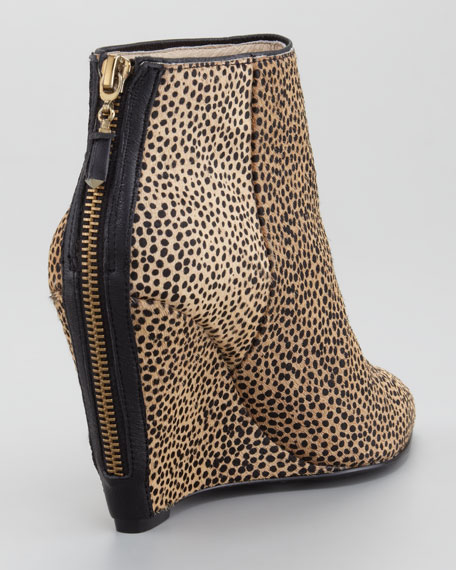 Astor Calf Hair Wedge Bootie