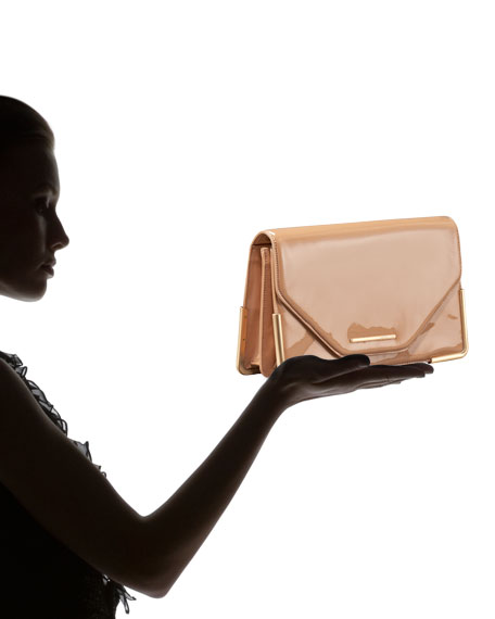Charlotte Patent Leather Envelope Clutch