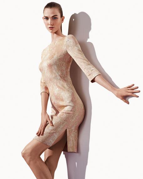 Python-Printed Sheath Dress