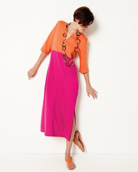 Colorblock Knit Dress, Women's