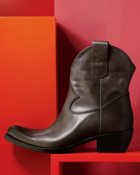 Leather Western Boot