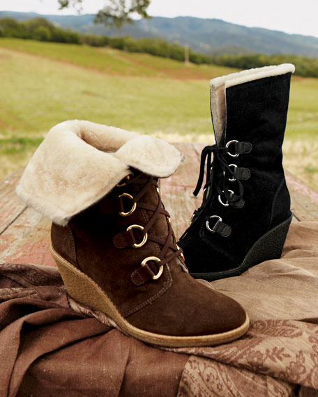 Air Michelle Shearling Wedge Boot