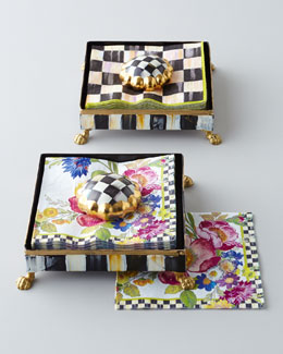MacKenzie-Childs Cocktail Napkin Set