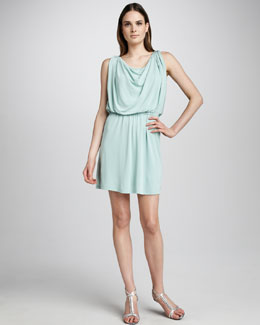 Halston Heritage Draped Jersey Dress, Foam