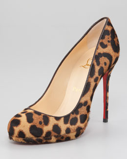 Christian Louboutin Filo Leopard-Print Hair-Calf Red Sole Pump