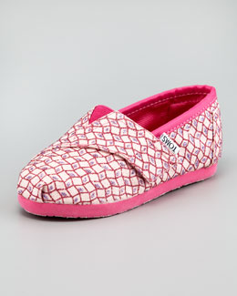 TOMS Dixon Glitter Slip-On, Pink, Tiny
