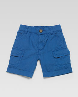 Gucci Poplin Cargo Shorts, Blue