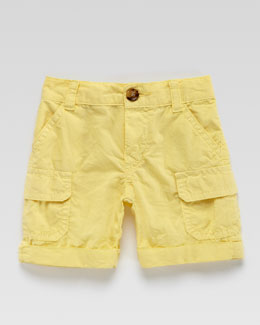 Gucci Poplin Cargo Shorts, Yellow