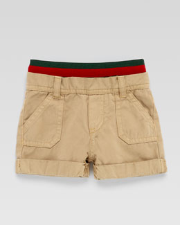 Gucci Carpenter Signature Web-Waistband Shorts