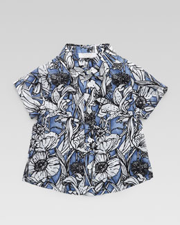 Gucci Floral Button-Down Shirt, 3-24 Months