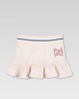 Gucci Jersey Ruffle Skirt, Powder Pink
