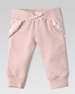 Gucci Jersey GG-Trim Jog Pants, Light Pink