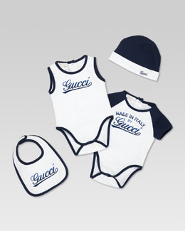 Gucci Made in Italy by Gucci Four-Piece Set, White/Navy