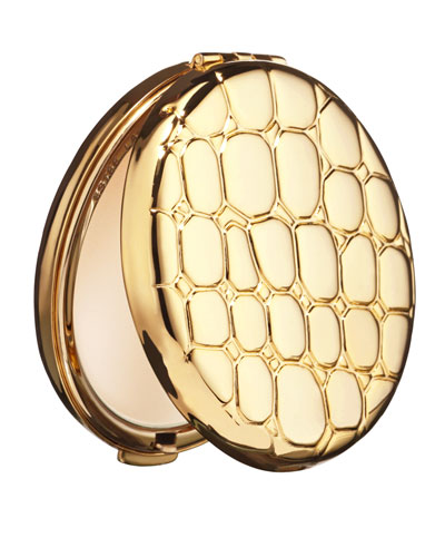 Estee Lauder Lucidity Translucent Powder Slim Alligator-Embossed Metal Compact
