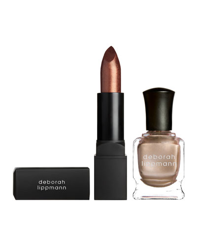Deborah Lippmann Puttin' on the Ritz Lipstick and Nail Polish Set