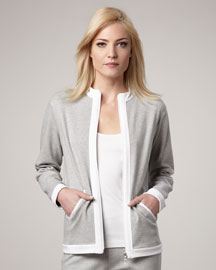 Joan Vass Colorblock Zip Jacket, Women's