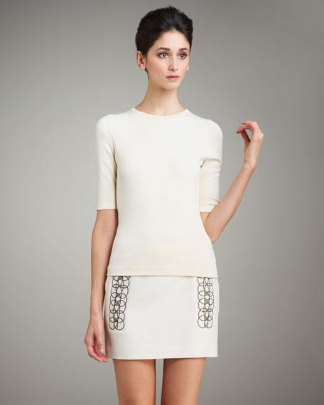 Loop-Detail Mini Skirt