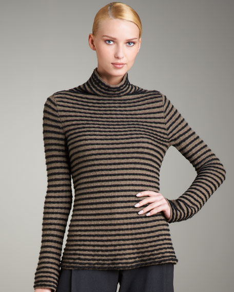 Striped Angora Sweater