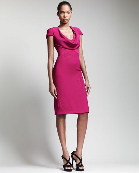 Alexander McQueen Cowl-Neck Dress