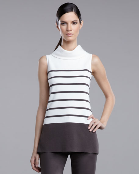 Milano Striped Knit Tunic