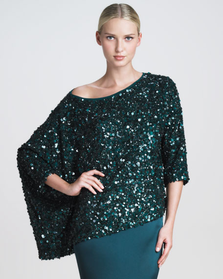 Sequined Asymmetric Blouse