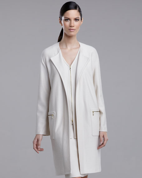 Twill Open-Front Jacket