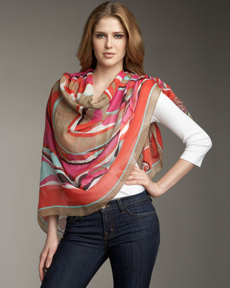 Orchidee Square Scarf