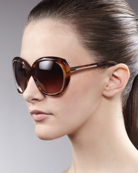 Round Sunglasses, Brown